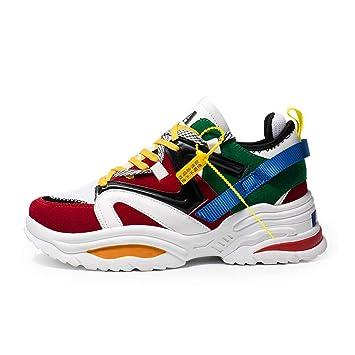 YAYADI Los Hombres Zapatillas De Camuflaje Altura Four Seasons Creciente Deporte Mujer Sneakers Transpirable Zapatos Fitness Ligero para Correr: Amazon.es: ...