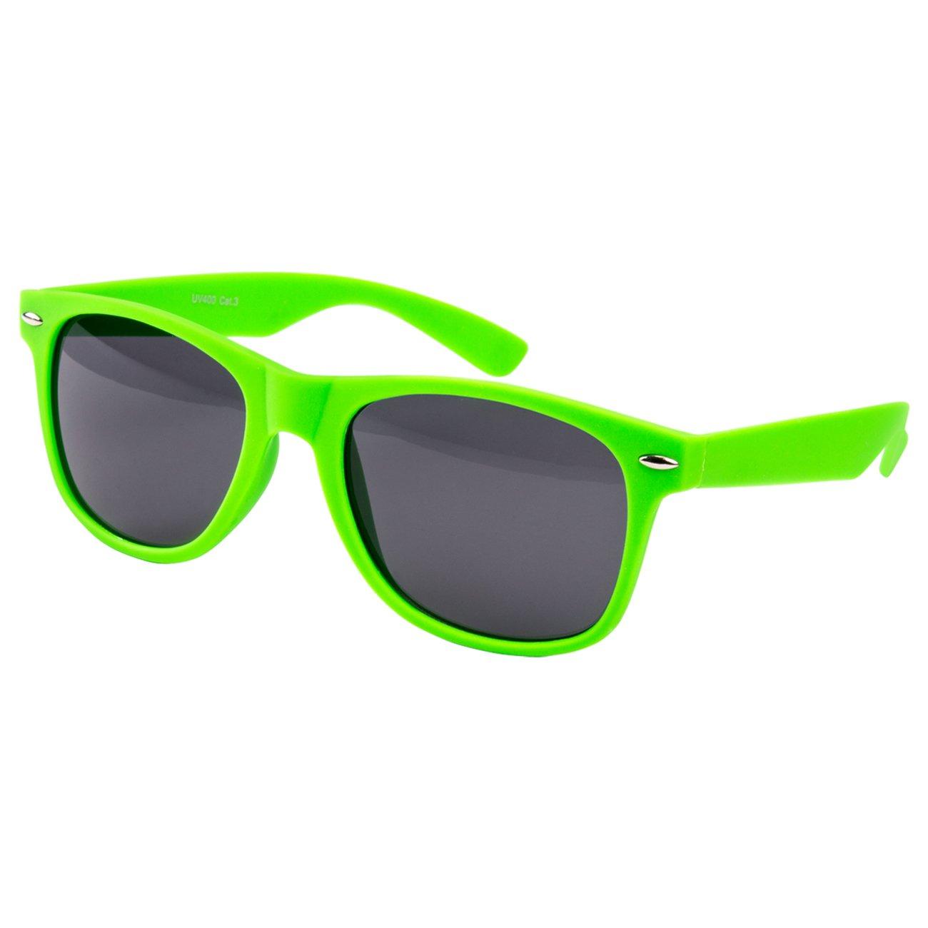 2 er Set EL-Sunprotect Sonnenbrille Nerdbrille Brille Nerd Matt ...