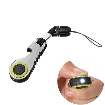 Generic Mini lumière LED Décapsuleur Porte-clés Outil de poche zippée de camping/randonnée
