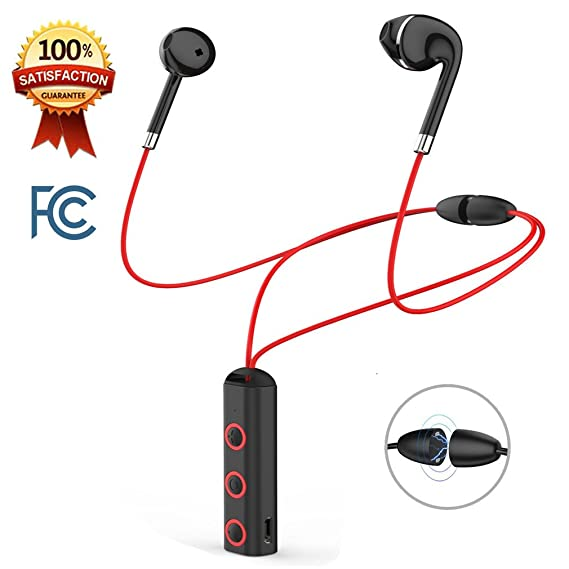 c176262f5d0 Bluetooth Headphones, QUIMOOZ Wireless Sports Earphones HD Stereo  Sweatproof Earbuds Necklace Headsets Running with Mic