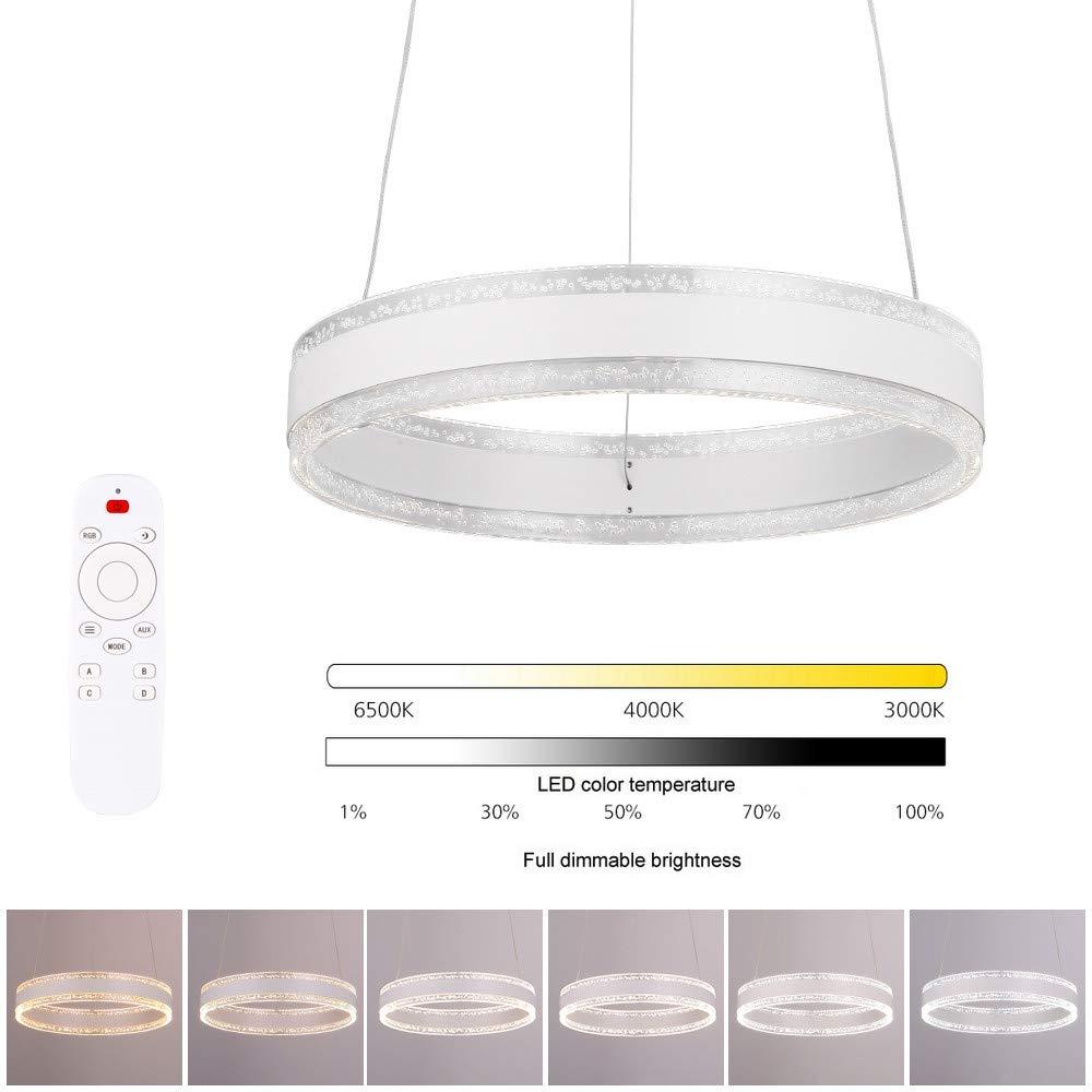 Lámpara de Techo Colgante Regulable - Iluminación Colgante de Acrílico, Lámpara de Techo LED Moderna