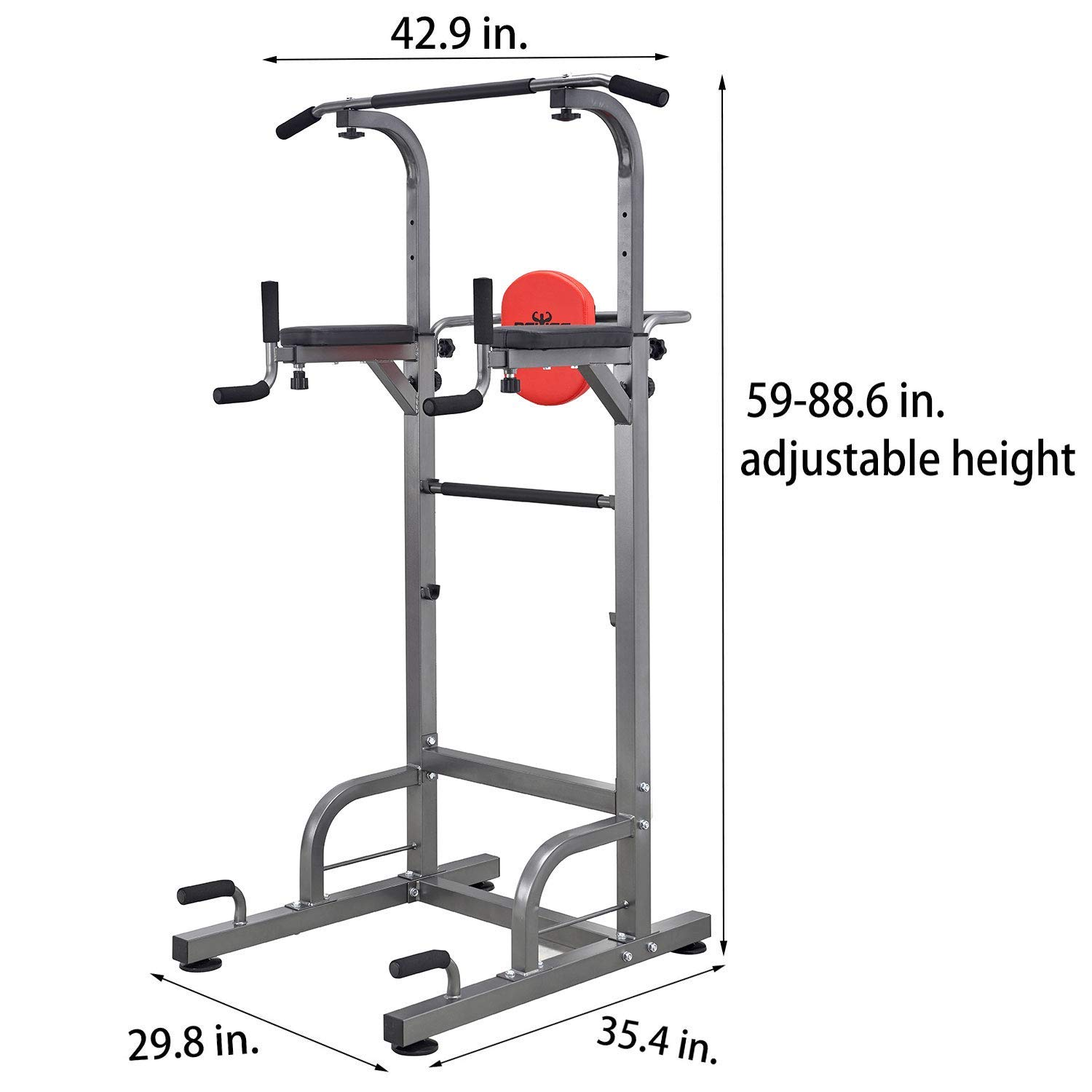 RELIFE REBUILD YOUR LIFE Power Tower Workout Dip Station for Home Gym Strength Training Fitness Equipment Newer Version by RELIFE REBUILD YOUR LIFE (Image #5)