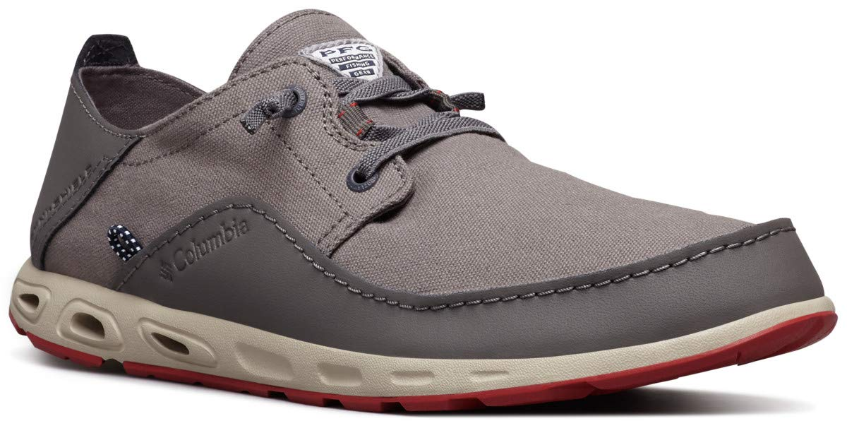 Columbia PFG Men's Bahama Vent Relaxed PFG Boat Shoe, City Grey, Gypsy, 7