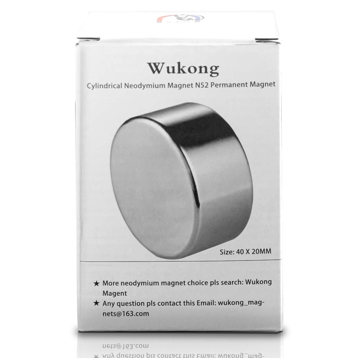 and Office Magnets Wukong N52 Permanent Magnet Disc Powerful Cylindrical Neodymium Rare Earth Magnets 40x20MM Craft DIY Scientific