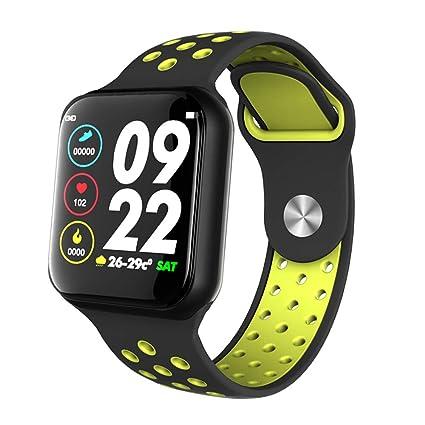 Lixada Reloje Inteligente F8 Impermeable IP67 Monitor Ritmo Cardiaco Presión Sanguínea Pulsera Deportiva