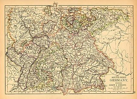 Southern Germany Bavaria Wurtemberg Saxony Alsace German Lorraine