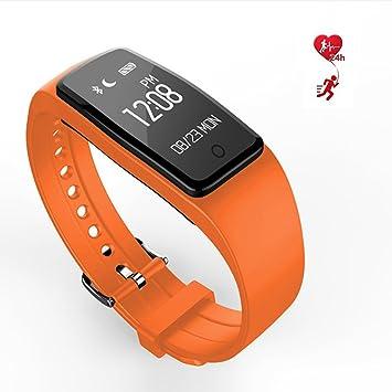 LJXAN Fitness Tracker Pantalla Táctil Reloj Deportes Podómetro Monitor De Sueño IP67 Impermeable Dinámico Ritmo Cardíaco