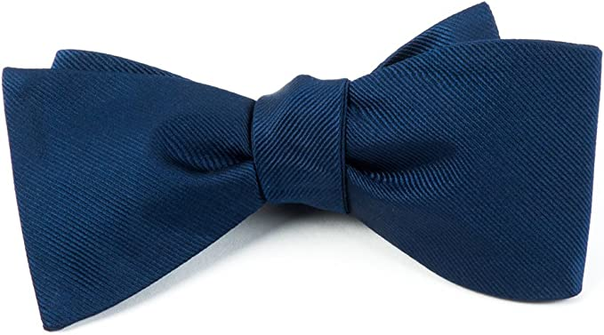The Tie Bar 100/% Woven Silk GrosGrain Solid Navy Boys Tie