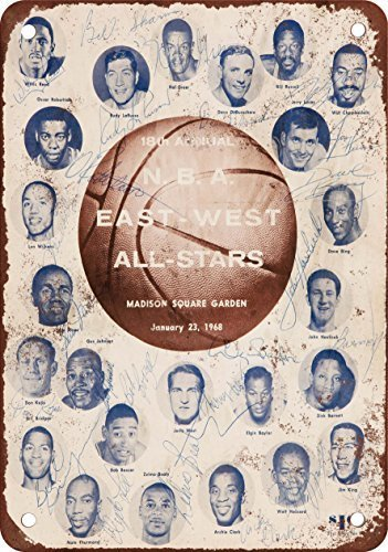 FemiaD 1968 Pro Basketball All-Star Game Vintage Look Reproduction Metal Tin Sign 12X8 Inches