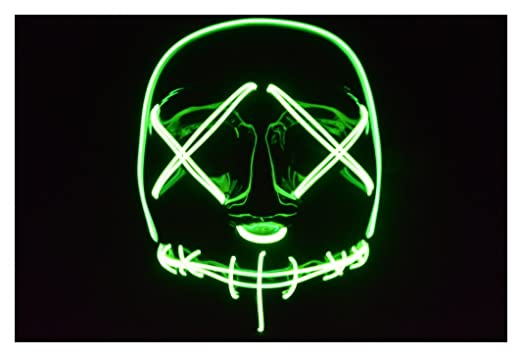Amazon.com: Plurfect Lights The Purge: Election Year EL Wire Mask ...