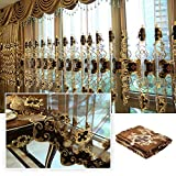 Dulcii 1 Piece Romantic Modern Dining Room Living Room Drapery Valances Window Blackout Curtain, 39'' (W) x 110'' (H)