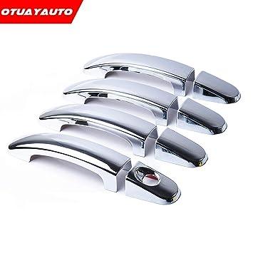 4 embellecedores para tirador de puerta de cromo de OTUAYAUTO para Focus 2009 2010 2011 2012: Amazon.es: Coche y moto
