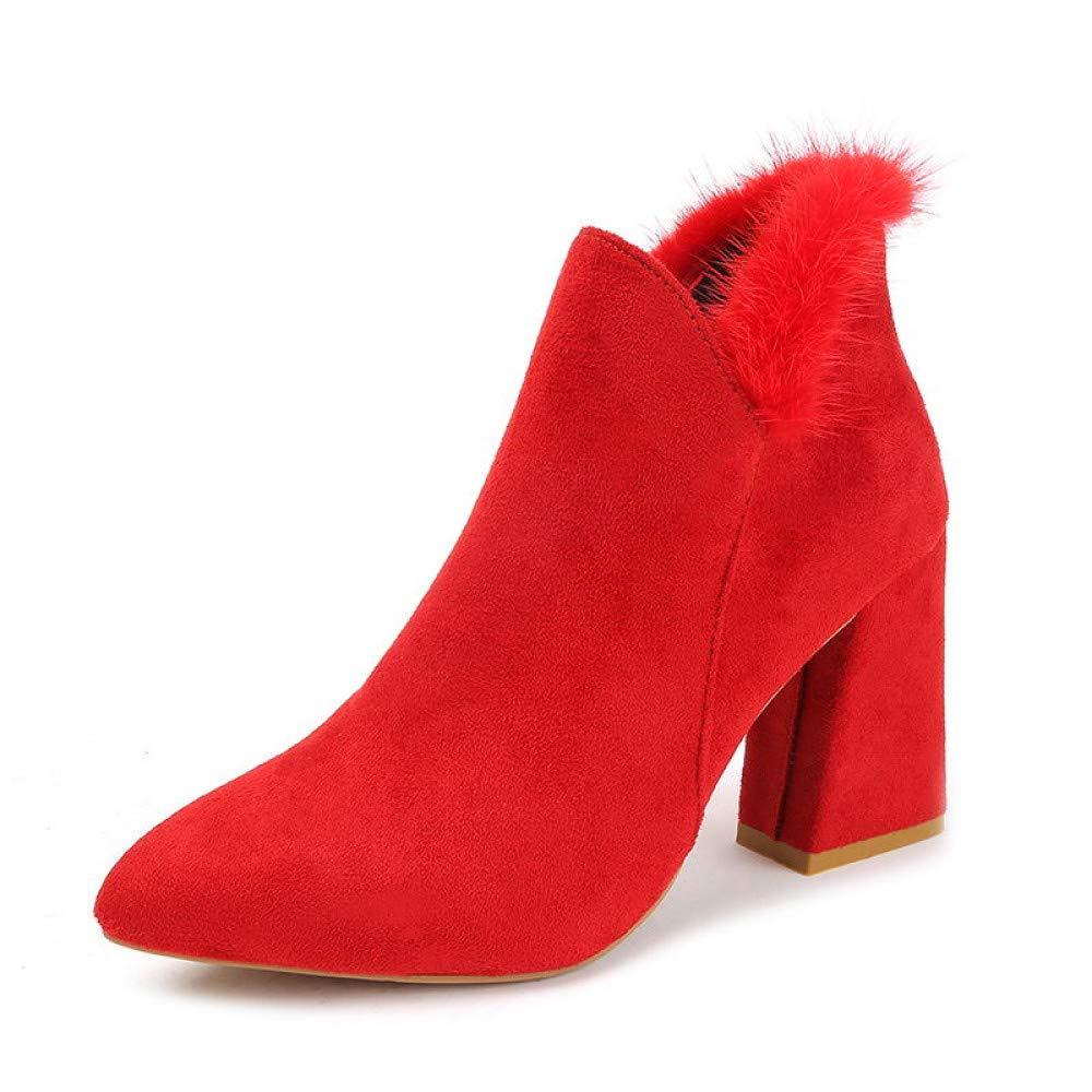 PINGXIANNV Frauen Schuhe Schuhe Schuhe Frau Stiefel Klauen Und High Heels Knöchel Spitze Zehe Mode Warme Damen Stiefel 3b0e73