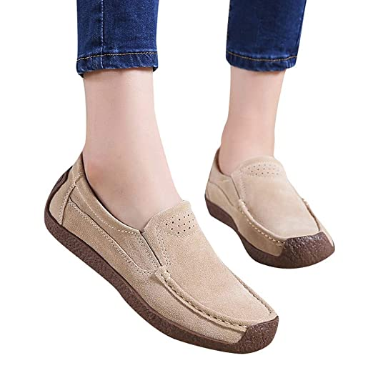 7eefdc6ddd07a Amlaiworld Women Loafers Shoes Flat Bottom Shoes Ladies Ankle Flat Slip On  Flock Roman Casual Shoes Home Shoes