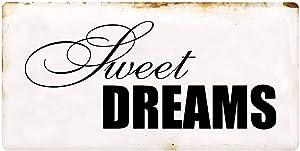 "1327HS Sweet Dreams 5""x10"" Aluminum Hanging Novelty Sign"