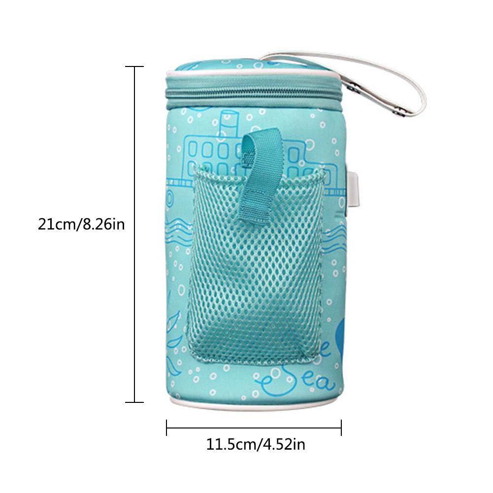 libelyef USB Babyflaschenw/ärmer Auto Tragbares Baby Aus Babyflasche Thermostat Tasche Sicher Und Langlebig Intelligente Konstante Temperatur USB-Heizung