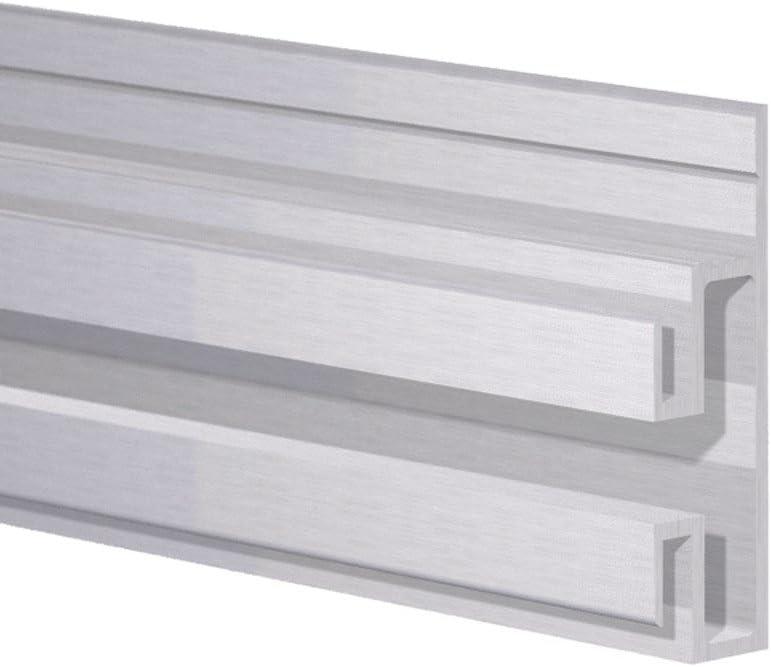 Orange Aluminum EZ Slat Wall Storage Shelving System Tracks 4ft Lengths 10 Pack