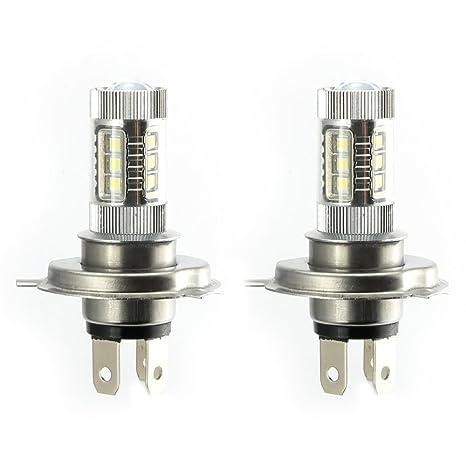2 Paquete LED H4 9003 HB2 Auto Niebla luz Bombilla 80W Niebla Luz de Conducción Luces