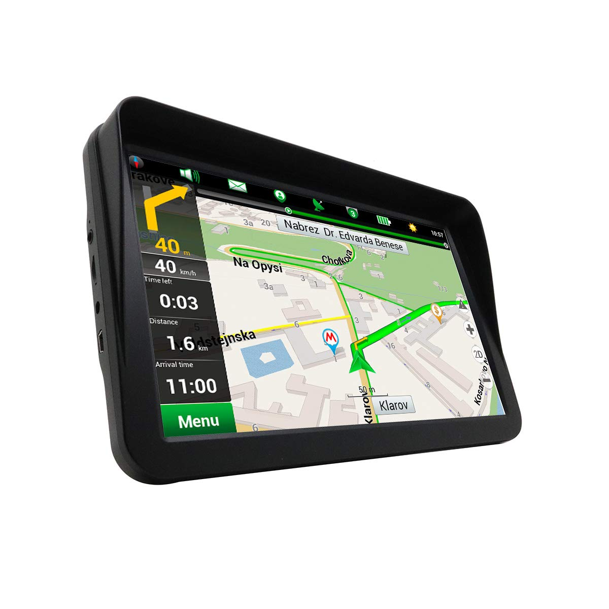Car GPS Navigation 9 Inch with Sunshade 8GB-256MB Memory Portable Truck Motorhome Navigator Touch Screen Voice Reminder Vehicle Satellite Navigator (Wince 6.0) by karadarA