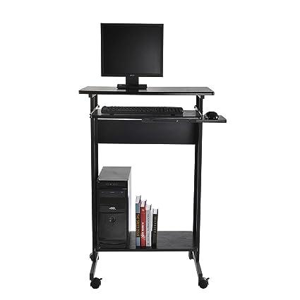 office desk shelf. Tenive Ergonomic Mobile Office Desk Stand Up Computer Workstation Keyboard Shelf, 30\u0026quot; Shelf