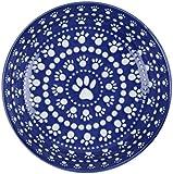 ORE Pet Speckle & Spot Ceramic Shallow Bowl – Bandana Blue Review