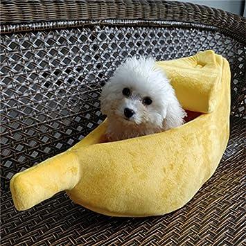 Somedays Perro & Gato Cama Cave, Casa Mascota Banana Forma Gato Arena Caseta Caseta Mascota