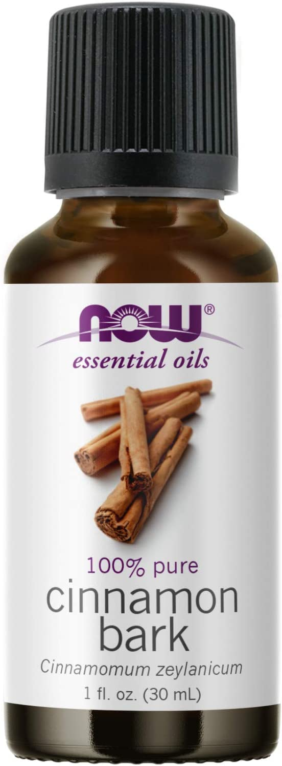 NOW Essential Oils, Cinnamon Bark Oil, Warming Aromatherapy Scent, Steam Distilled, 100% Pure, Vegan, Child Resistant Cap, 1-Ounce