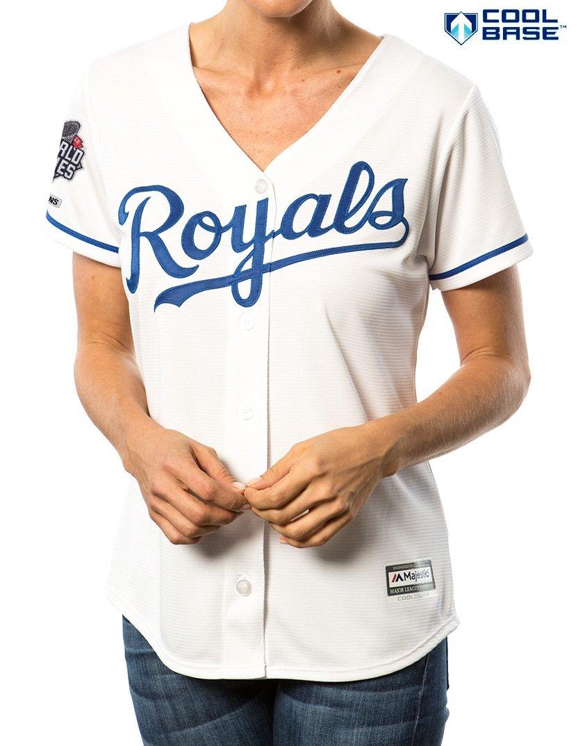 d4d7906f0 Amazon.com   Kansas City Royals MLB Women s Cool Base 2015 World Series  Champions Patch Home Jersey (Medium)   Sports   Outdoors