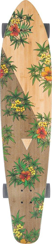 Globe Byron Bay Complete Skateboard, Bamboo/Hibiscus, 43''