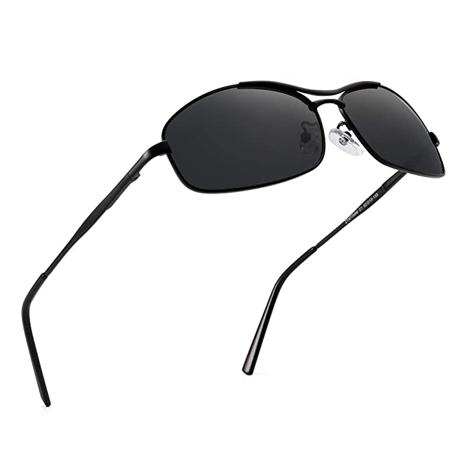 Amazon.com: Jim Halo - Gafas de sol polarizadas de aviador ...