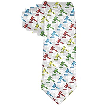 Abogado Juez Hammers Corbata Regalo Corbatas de seda de moda para ...