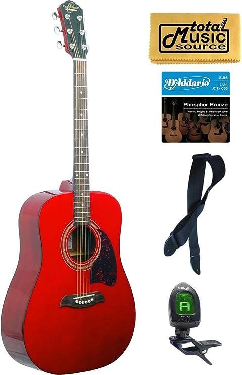 Oscar – Schmidt OG2 – Guitarra acústica, Washburn, rojo nuevo ...