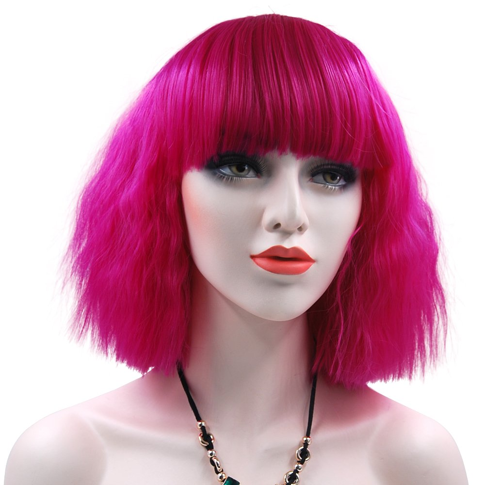 Amazon.com: MQ Cosplay Wig COS Lolity Short Curly Wave ...
