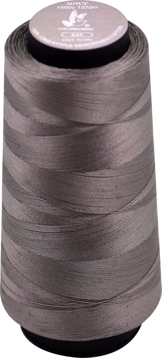 50WT 1370m Cone Sewing, Quilting&Serger Thread, 100% Long Staple Cotton-Dark Brown Large Spool Thread Set -Overlock, Single Needle,Machine Embroidery(Color No,:645)  :645)  cq