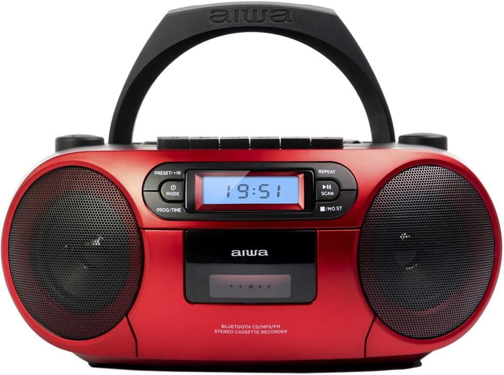 Aiwa Bbtc 550 Tragbarer Radiorekorder Bluetooth Cd Usb Audio Hifi