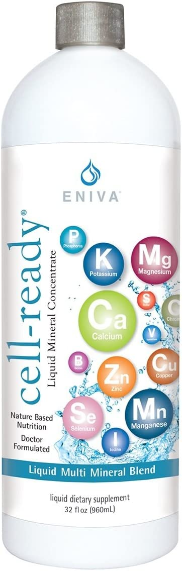 Liquid Ionic Multi Mineral Supplement (32oz) Doctor Formulated. - Unflavored - Zero Calories. Zero Sugar. Keto Friendly. by Eniva Health.