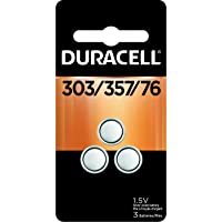 Duracell - 303/357 Silver Oxide Button Battery - long lasting battery, 3 Count (Pack of 1)