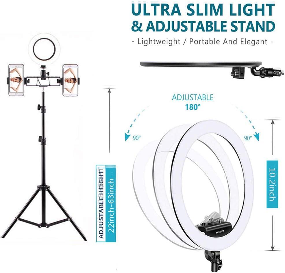 ,Singleposition,82.7inch Mini Led Light Photography Camera Photo Video Lightning Kit for YouTube Makeup 3 Light Modes Live Streaming, DelongKe LED Ring Light