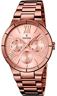 Festina F16798/1 - Womens Watch, Stainless Steel placcato, color:Brown