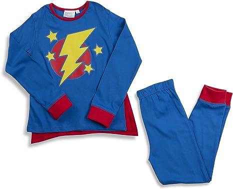 Minikidz niños superhéroe Larga Pijama Conjunto con Cabo