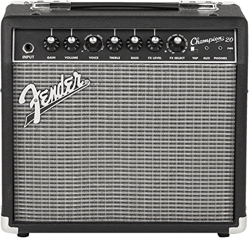 Simple Black Guitar (Fender Champion 20 - 20-Watt Electric Guitar Amplifier)