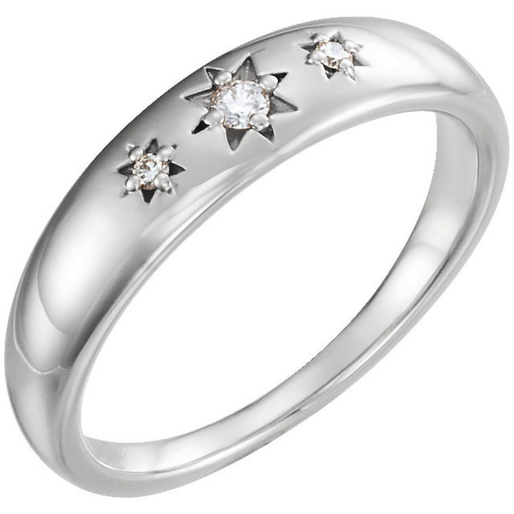 7fdffd7fbed Diamond Starburst Ring, Rhodium-Plated 14k White Gold (.05 Ctw, G-H Color,  I1 Clarity)