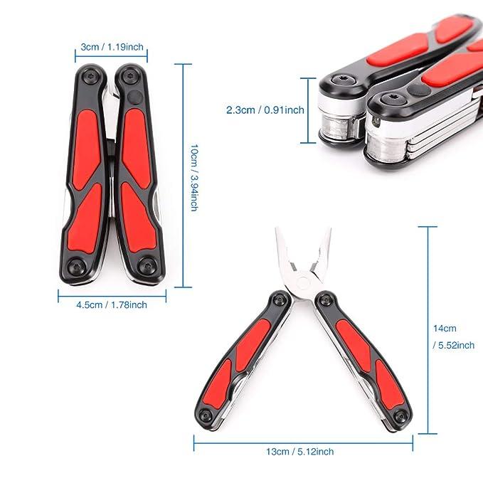 IDABAY 12-en-1 Multi-herramientas 420 Acero Inoxidable ...