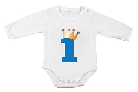 28d520d0e042f Cadeau 1er anniversaire bébé nouveau-né body longues manches pur coton  prince  Amazon.fr  Vêtements et accessoires