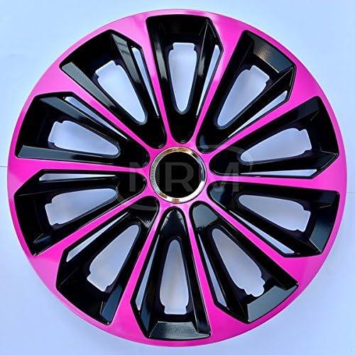 Centurion Radzierblende Extra Strong Pink Schwarz 15 Zoll 4er Set Auto