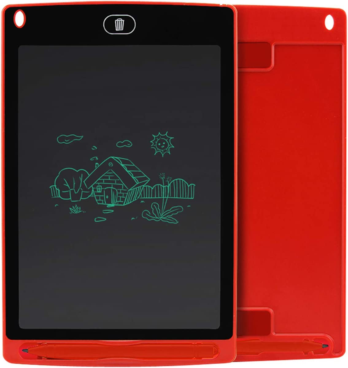 LCD Writing Tablet 8.5 Inch Electronic Drawing Writing Board Handwriting Pads Ultra Thin Board with Pen Erase Button,Red