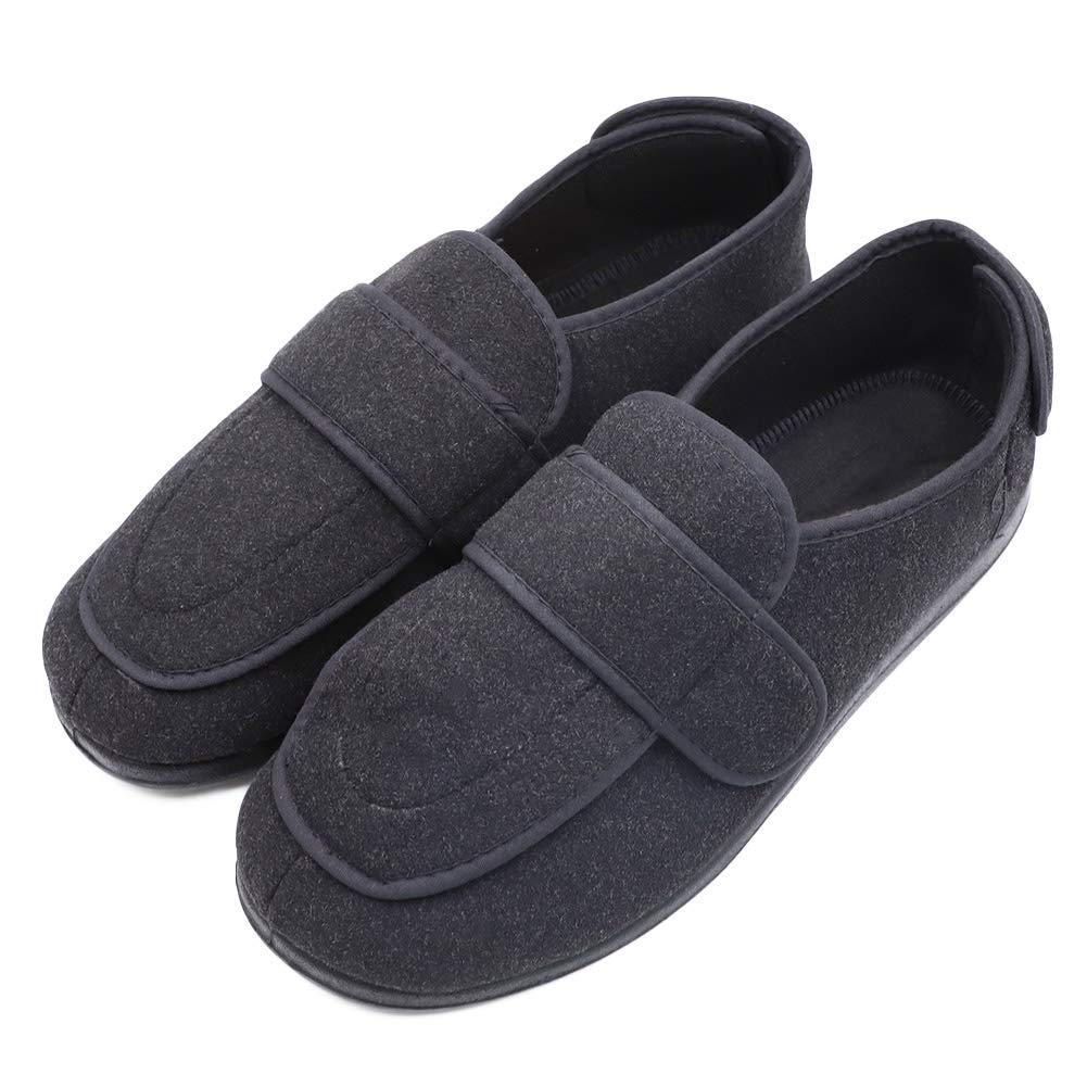 2916ee1793d1a Men's Extra Wide Width Diabetic Recovery Slippers, Adjustable Closures  Swollen Feet Arthritis Edema Orthopedic Footwear, Indoor/Outdoor Walking  Shoes