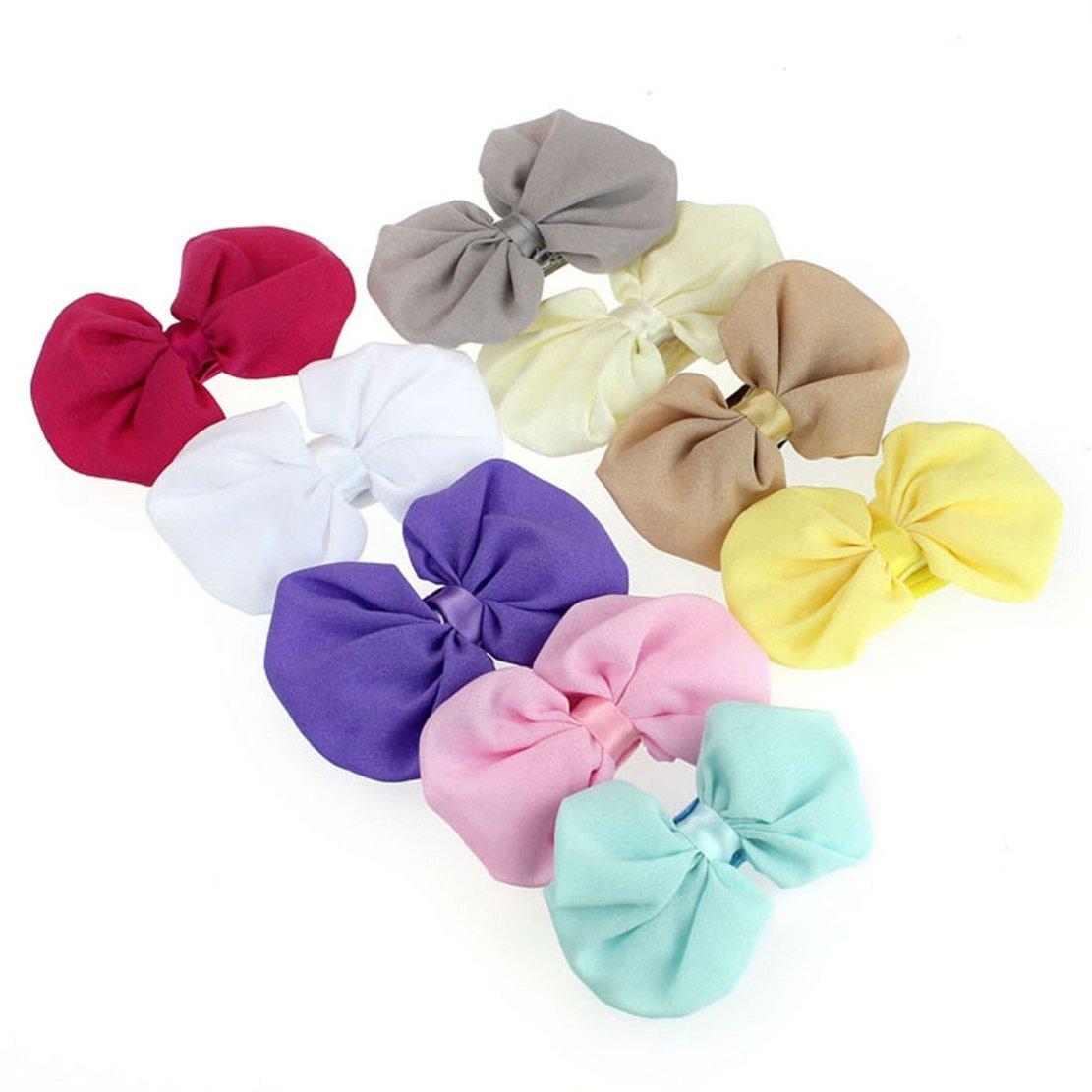 Tonsee 9PCS Babys Girls Chiffon Flower Elastic Headband Photography Headbands