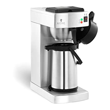 Royal Catering Cafetera De Goteo RCKM-2.2LP (2,2 Litros, Robusta Construcción Acero Inoxidable, 3 Dispositivos De Seguridad Integrados, Incluye Termo): ...