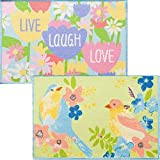 Cheap 2 Pack Spring Printed Accent Rugs 20 inch x 30 inch